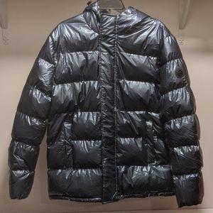 NWT Michael Kors Steel Metallic Puffer Jacket